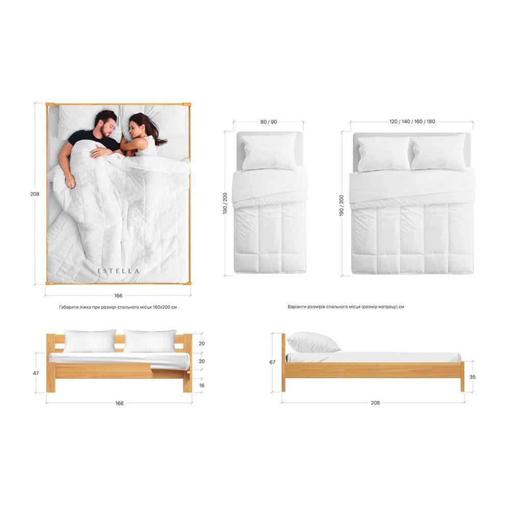"""Ліжко односпальне/двоспальне """"РЕНАТА"""""""